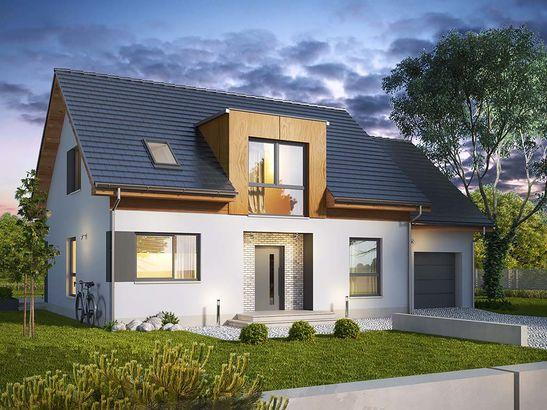 Projekt domu Format - widok 1