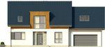 Projekt domu Format 2G - elewacja przednia