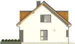 Projekt domu Format 2G - elewacja boczna 1