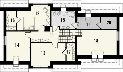 Projekt domu Format 2G - rzut poddasza
