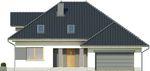 Projekt domu Monogram - elewacja przednia
