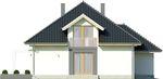 Projekt domu Monogram - elewacja boczna 1