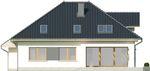 Projekt domu Monogram - elewacja tylna
