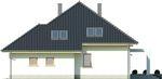 Projekt domu Monogram - elewacja boczna 2