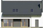Projekt domu Joker - elewacja tylna