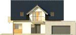 Projekt domu Sonata - elewacja przednia