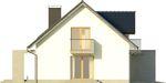 Projekt domu Sonata - elewacja boczna 1