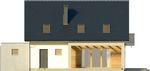 Projekt domu Sonata - elewacja tylna
