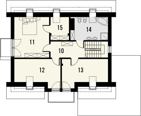 Projekt domu Sonata - rzut poddasza
