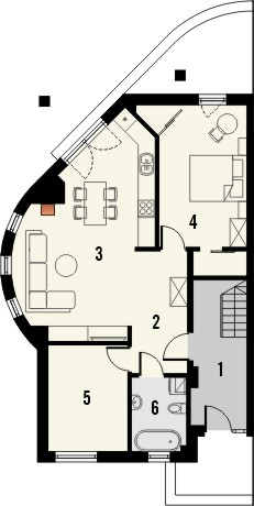 Projekt domu Maxima Nova 1 - rzut parteru