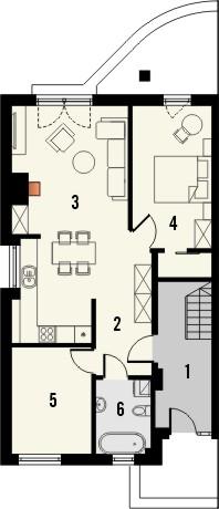 Projekt domu Maxima Nova 2 - rzut parteru