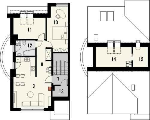 Projekt domu Maxima Nova 2 - rzut poddasza