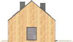 Projekt domu Studio 71 - elewacja boczna 1
