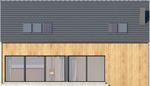 Projekt domu Studio 71 - elewacja tylna