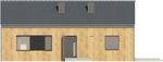 Projekt domu Studio 36 - elewacja przednia