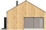 Projekt domu Studio 36 - elewacja boczna 1