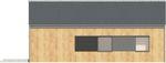 Projekt domu Studio 36 - elewacja tylna