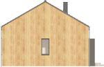 Projekt domu Studio 36 - elewacja boczna 2