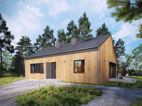 Projekt domu Studio 36 - widok 2