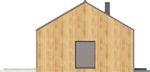 Projekt domu Studio 54 - elewacja boczna 1
