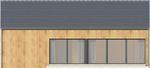 Projekt domu Studio 54 - elewacja tylna
