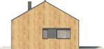 Projekt domu Studio 54 - elewacja boczna 2