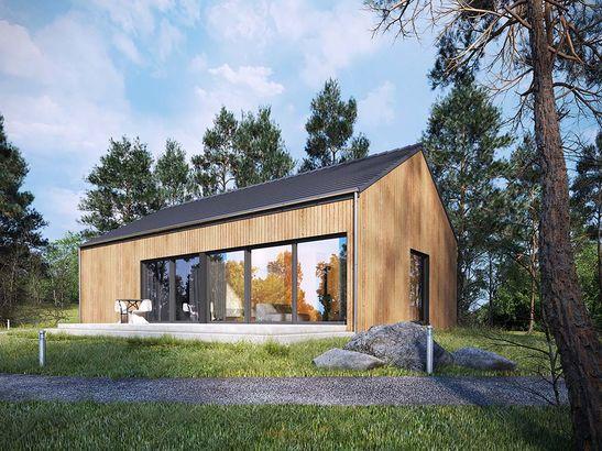 Projekt domu Studio 54 - widok 1