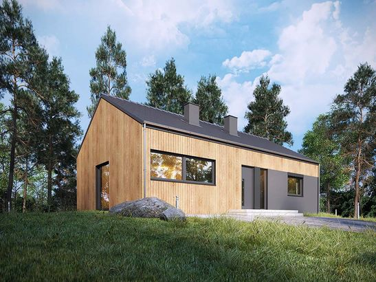 Projekt domu Studio 54 - widok 2