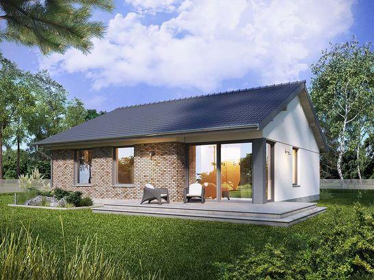 Projekt domu Pozytywka - widok 2