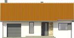 Projekt domu Malinówka - elewacja przednia