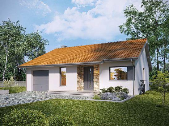 Projekt domu Malinówka - widok 1