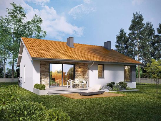 Projekt domu Malinówka - widok 2