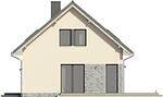 Projekt domu Sempre - elewacja boczna 1