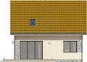 Projekt domu Sempre - elewacja tylna
