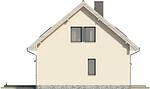Projekt domu Sempre - elewacja boczna 2