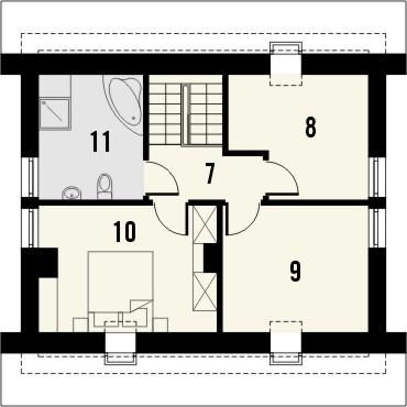 Projekt domu Sempre - rzut poddasza