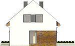 Projekt domu Bodo - elewacja boczna 1