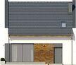 Projekt domu Bodo - elewacja tylna