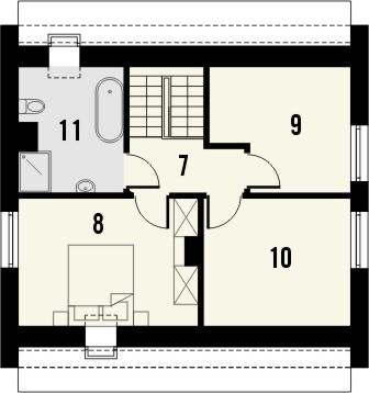 Projekt domu Bodo - rzut poddasza