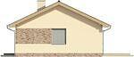 Projekt domu Fiori - elewacja boczna 1