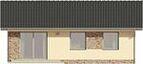 Projekt domu Fiori - elewacja tylna