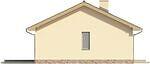 Projekt domu Fiori - elewacja boczna 2