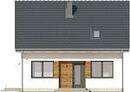 Projekt domu Fortel - elewacja przednia