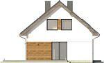 Projekt domu Fortel - elewacja boczna 1