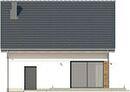 Projekt domu Fortel - elewacja tylna