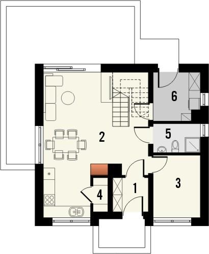 Projekt domu Fortel - rzut parteru
