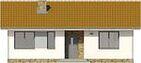 Projekt domu Irysówka - elewacja przednia