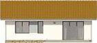 Projekt domu Irysówka - elewacja tylna