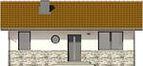 Projekt domu Jeżówka - elewacja przednia