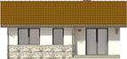 Projekt domu Jeżówka - elewacja tylna
